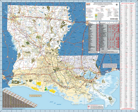 download louisiana official highway map